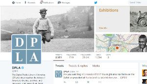 The Twitter feed for the Digital Public Library of America
