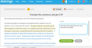 Duolingo, a popular language-learning website that is also a crowd-sourced web translator.