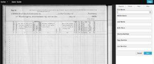 Scribe, a tool for transcribing handwritten records.